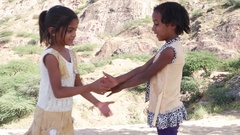 Indian kids playing  Stock Footage