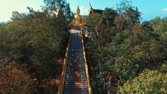 Aerial: Buddha Hill in Pattaya. Stock Footage