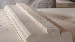 Carpenter Drawing Line on Wood Board Stock Footage