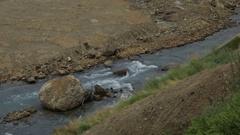 Geysernaya River in Valley of Geysers stock footage video Stock Footage