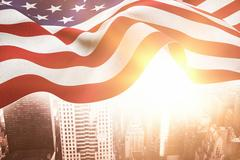 Composite image of focus on usa flag Stock Illustration