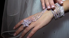 Decoration jewelry for hands. Stock Footage