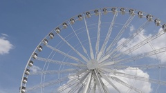 PARIS, FRANCE - Construction of French  Big Wheel on Place Stock Footage