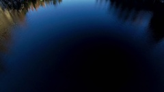Water reflection in Marble rock in Karelia region Stock Footage