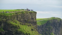 The view of the beautiful Cliffs of Moher in Ireland Stock Footage