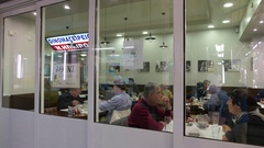 4K Greek Epeiros restaurant Central Meat Market old town Athens Greece Stock Footage
