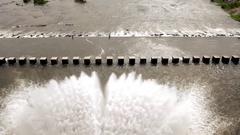 Dam releasing Water Stock Footage