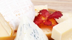 Various types of cheese Stock Footage