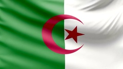Realistic beautiful Algeria flag looping Slow 4k resolution Stock Footage