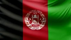 Realistic beautiful Afganistan flag looping Slow 4k resolution Stock Footage