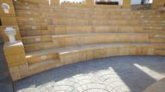 Old stone Amphitheater Stock Footage