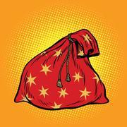 Christmas gift bag Santa Claus Stock Illustration