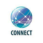 Vector logo connect Stock Illustration