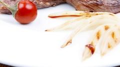 Food : roast steak boneless Stock Footage
