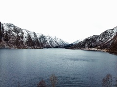 Mountains and a lake with epic view Stock Footage