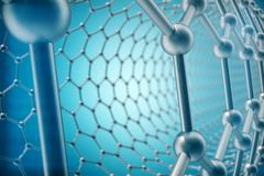 3d rendering abstract tube nanotechnology hexagonal geometric form close-up Stock Illustration