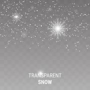Snow on a transparent background Stock Illustration