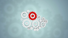 Broken gears system, 3d animation Stock Footage