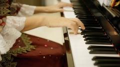Pianist court Mozart piece Stock Footage