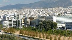 4K Highway 91 Expressway Motorway Traffic Athens Athina Athen Greece Europe Stock Footage