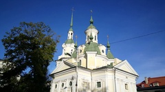 Jekateriina church in Pärnu Stock Footage