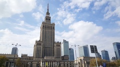 The Palace of Culture and Science in Warsaw Stock Footage