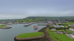 Aerial view of the small town of Dingle Ireland in Ireland Stock Footage