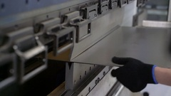 Metal bending machine Stock Footage