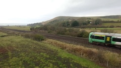 Southern rail train Stock Footage