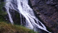 The Cascada Valul Miresei waterfall Stock Footage