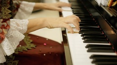 Pianist court Mozart play Stock Footage