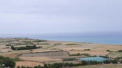 Beautiful view from Kourion. Cyprus Stock Footage