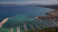 Castellammare del golfo coast sicily italy port harbour Stock Footage