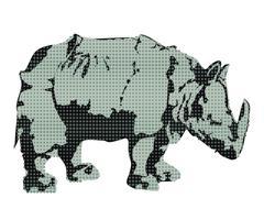 Rhino, rhinoceros Stock Illustration