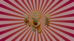Gingerbread man Dancers Stock Footage