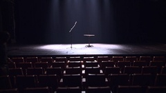 Auditorium Filled With Spectators Stock Footage