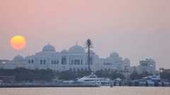 Sheikh Palace in Abu Dhabi, UAE Stock Footage