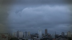 San Paolo, Brazil - Skyline - Time Lapse on a Cloudy Day Stock Footage