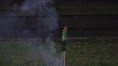 Firework Rocket are Explosives.  What can go wrong  240fps Stock Footage