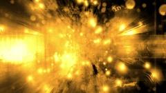 Burning yellow cosmic VJ loop Stock Footage