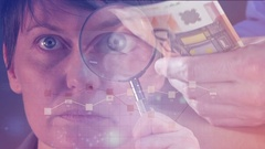 Financial report analysis and forensics Stock Footage