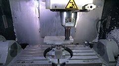 Metalworking CNC milling machine Stock Footage