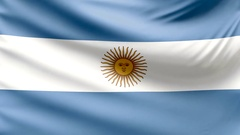 Realistic beautiful Argentina flag looping Slow 4k resolution Stock Footage