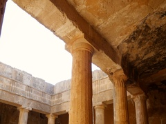 Tomb of The Kings in Paphos, Cyprus Stock Footage