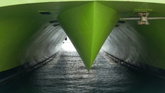 4K TL Piraeus harbour harbor Catamaran Flyingcat mooring Athens Athina Athen Stock Footage