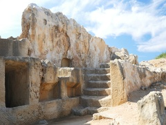 Detail of ancient architecture in Paphos, Cyprus Stock Footage