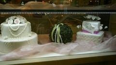 Greek Wedding cake selection Stock Footage