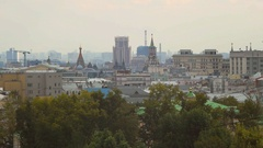 Beautiful view of the panorama of Moscow Stock Footage
