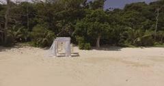 Magical wedding on a tropical island. Stock Footage