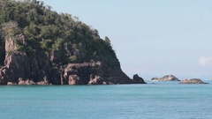 View of Whitsunday Island by Boat Stock Footage